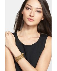 St. John - Metallic Boucle Knot Bracelet - Light Gold - Lyst