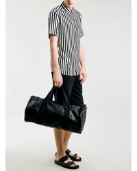 LAC | Black Bk Leather Look Holdall for Men | Lyst