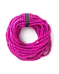 Monies | Pink Beaded Necklace | Lyst