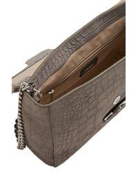 HUGO | Gray Leather Shoulder Bag: 'delight' | Lyst