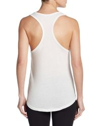 Corner Shop - White Love Doesn't Need Handles Tank Top - Lyst
