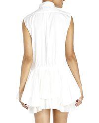 Sacai - White Sleeveless Shirtdress - Lyst