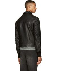 Silent - Damir Doma Black Classic Leather Jacket for men
