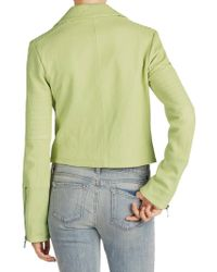 J Brand - Green Aiah Leather Jacket - Lyst