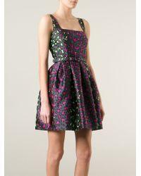 Christopher Kane - Gray Leopard Jacquard Princess Dress - Lyst