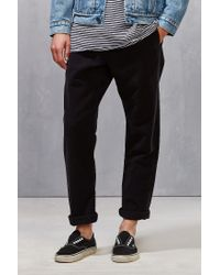 Obey - Black Traveler Moleskin Pant for Men - Lyst