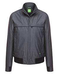 BOSS Green | Gray 'jadon' | Lightweight Bomber Jacket for Men | Lyst
