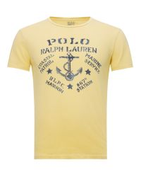 Polo Ralph Lauren Yellow Anchor Print Tshirt for men