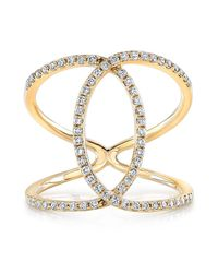 Anne Sisteron | 14kt Yellow Gold Diamond Cigar Band Ring | Lyst