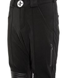 Lacroix Black Bellevarde Leather-Panel Ski Pants for men