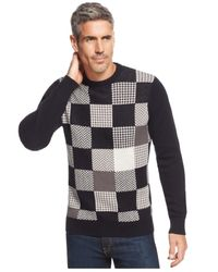 Geoffrey Beene | Black Patches Sweater for Men | Lyst