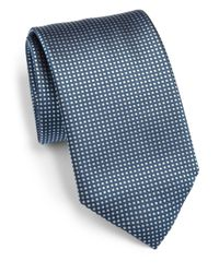 Canali | Gray Micro Dot Silk Tie for Men | Lyst