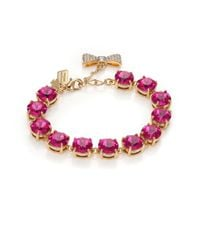 kate spade new york | Purple Fancy That Crystal Bracelet/fuchsia | Lyst
