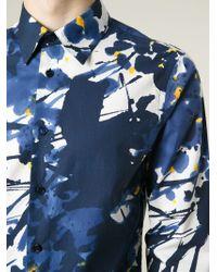 Marni - Blue Printed Cotton Shirt for Men - Lyst