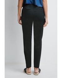 Forever 21 | Black Flat-front Chinos | Lyst