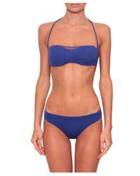 La Perla - Blue Bra Cool Draping - Lyst