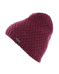 BOSS Orange Pink Knitted Hat In A Fabric Blend: 'faresi'