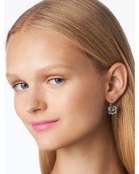 kate spade new york | Metallic Kate Spade Round Leverback Earrings | Lyst