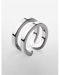 Calvin Klein | Metallic Platinum Return Ring for Men | Lyst