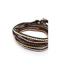 Chan Luu - Mixed Nugget Wrap Bracelet - Black - Lyst