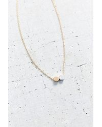 Urban Outfitters | Metallic Double Dot Short Necklace | Lyst