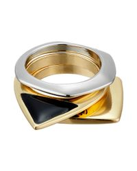 Sam Edelman | Multicolor Geo Stack Rings | Lyst