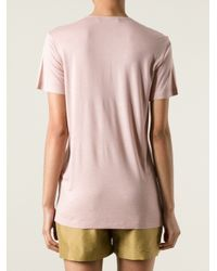 Roberto Cavalli Pink Embellished T-Shirt