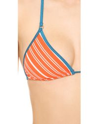 Marc By Marc Jacobs   Red Tara Stripe Triangle Bikini Top   Lyst
