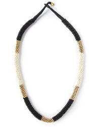 By Malene Birger - Metallic Savia Beaded Necklace - Lyst