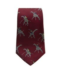 Turnbull & Asser - Polo Giraffes Tie In Red for Men - Lyst
