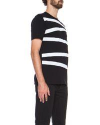 Neil Barrett - White Stripe Cotton Tee - Lyst