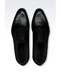 Emporio Armani - Black Patent Leather Brogue for Men - Lyst