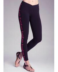 Bebe - Black Logo Leggings - Lyst