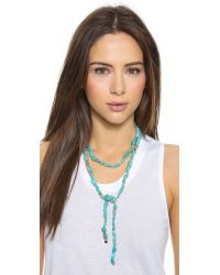 Ginette NY Blue Fallen Sky Sautoir Necklace