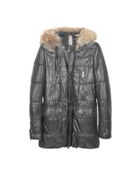 FORZIERI | Black Leather Montgomery Coat for Men | Lyst