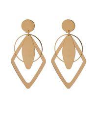 Stella McCartney - Metallic Geometric Drop Clip-On Earrings - Lyst