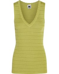 M Missoni Yellow Wool-Blend Top