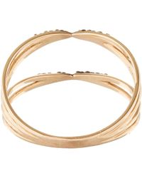 Kismet by Milka | Pink Rose Gold And Black Diamond Ring | Lyst