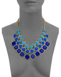 ABS By Allen Schwartz | Blue Sunset Blvd Cushion Three-row Necklace | Lyst