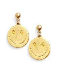Venessa Arizaga | Metallic 'smile For Miles' Drop Earrings | Lyst