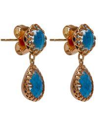 Larkspur & Hawk - Blue Small Teal Topaz Jane Earrings - Lyst