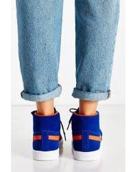 PUMA | Blue Suede Classic Mid Jr Sneaker | Lyst