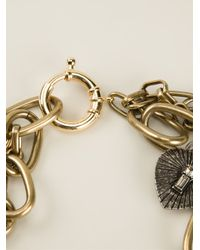 Lanvin - Metallic Multi-Chain Necklace - Lyst