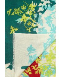 We Are Owls Green Lace Of Life Printed Cashmere Scarf