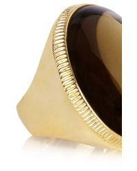 Karen Millen - Metallic Round Stone Statement Ring - Lyst
