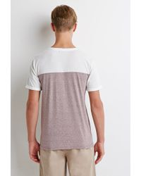 Forever 21 - Purple Colorblocked Tee You've Been Added To The Waitlist for Men - Lyst