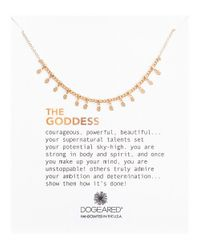 Dogeared | Metallic The Goddess Petal Necklace | Lyst