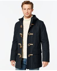 Tommy Hilfiger | Blue Wool-blend Melton Toggle Coat for Men | Lyst
