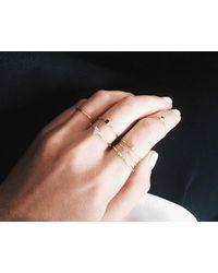 Vrai & Oro | Pink Baguette Diamond Ring | Lyst