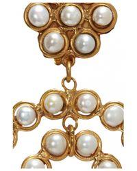 Sylvia Toledano | Metallic Pearl Flower Earrings | Lyst